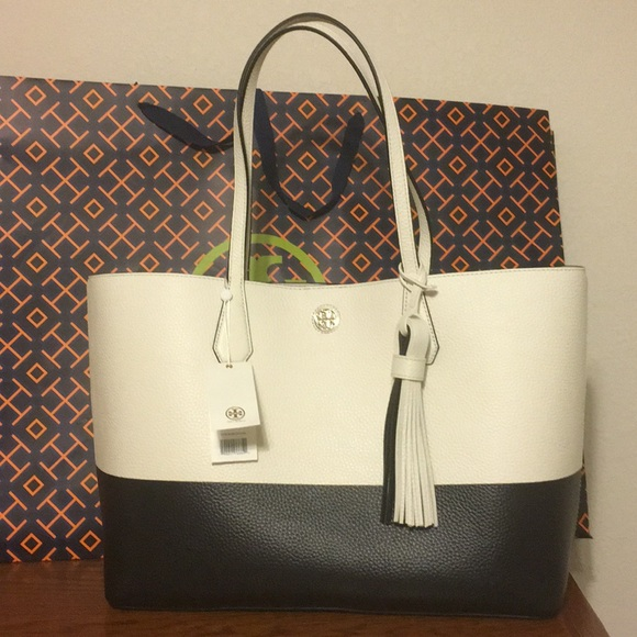3028afbae15 NWT Tory Burch Color Block Perry Tote